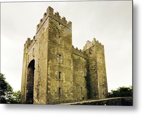 Bunratty Castle Metal Print featuring the photograph Ireland Bunratty Castle In County by Alantobey