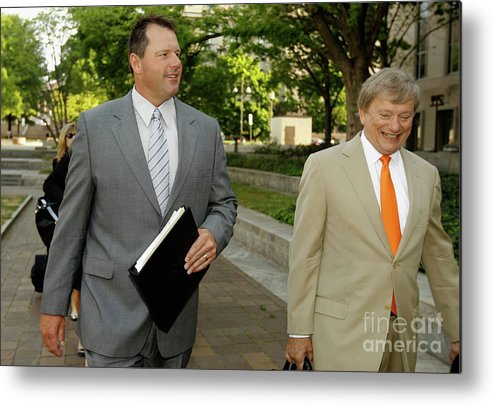 Lawyer Metal Print featuring the photograph Jury Selection Begins In Roger Clemens by Chip Somodevilla