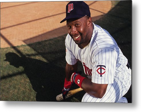 American League Baseball Metal Print featuring the photograph Kirby Puckett by Ronald C. Modra/sports Imagery
