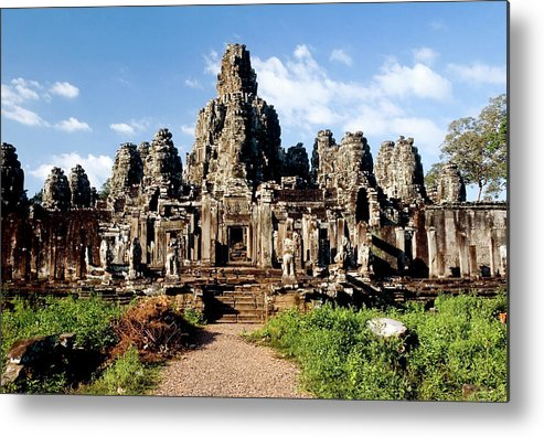 Scenics Metal Print featuring the photograph Landscape Photo Of Bayon Temple In by Laughingmango