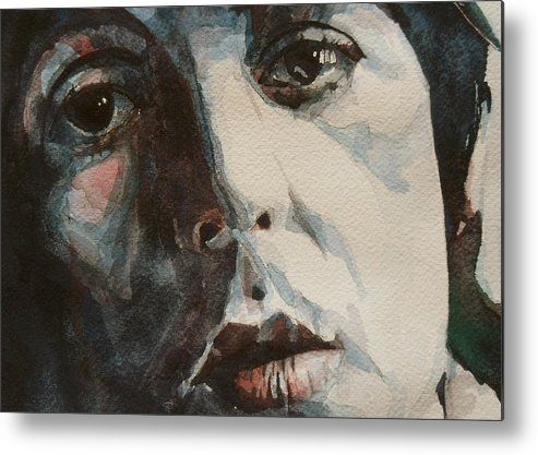 The Beatles Metal Print featuring the painting Let Me Roll It - Paul McCartney - Resize Crop by Paul Lovering
