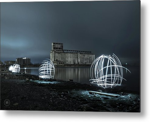 Galagher Pier Metal Print featuring the photograph Lights in the Night by Dave Niedbala