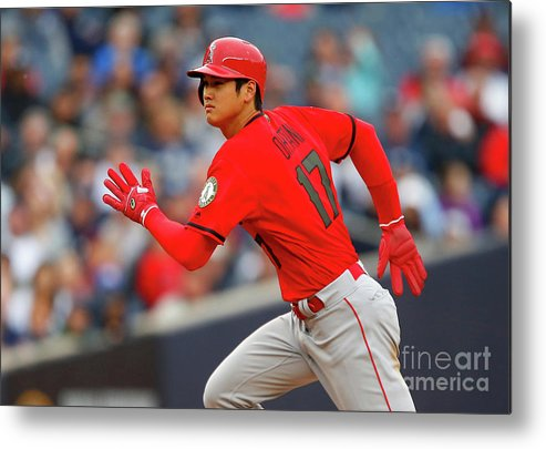 Three Quarter Length Metal Print featuring the photograph Los Angeles Angels Of Anaheim V New by Jim Mcisaac