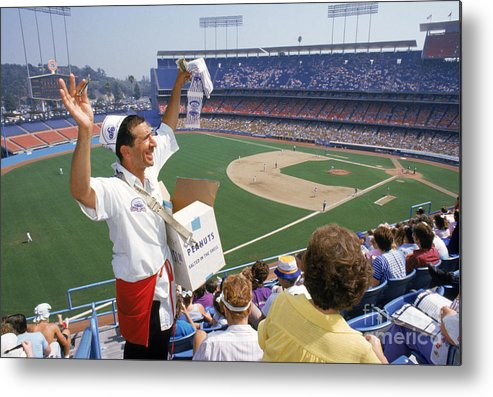 1980-1989 Metal Print featuring the photograph Los Angeles Dodgers by Andrew D. Bernstein