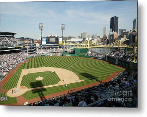 Opening Ceremony Metal Print featuring the photograph Los Angeles Dodgers V Pittsburgh Pirates by Rick Stewart