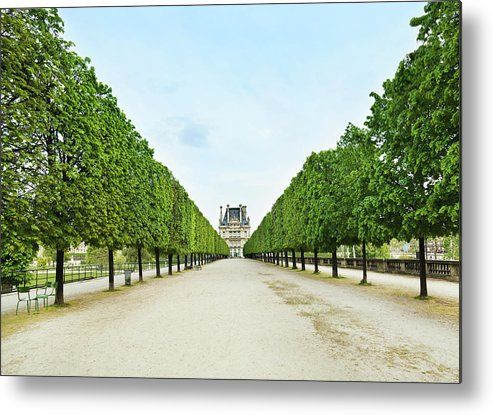 Scenics Metal Print featuring the photograph Louvre In Paris by Nikada
