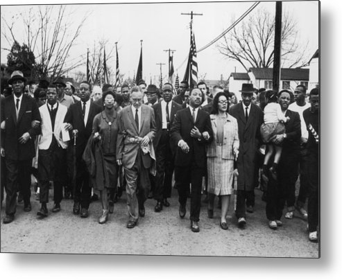Marching Metal Print featuring the photograph Luther King Marches by William Lovelace