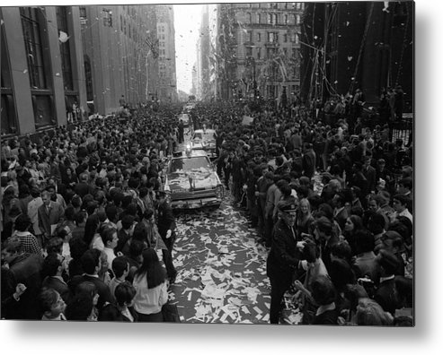 People Metal Print featuring the photograph Mets Ticker Tape Parade by Fred W. McDarrah