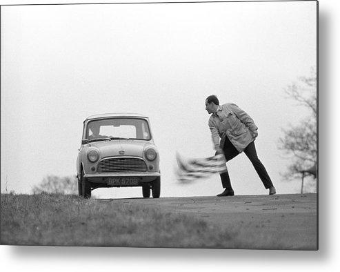 People Metal Print featuring the photograph Mini Rally by Bert Hardy Advertising Archive