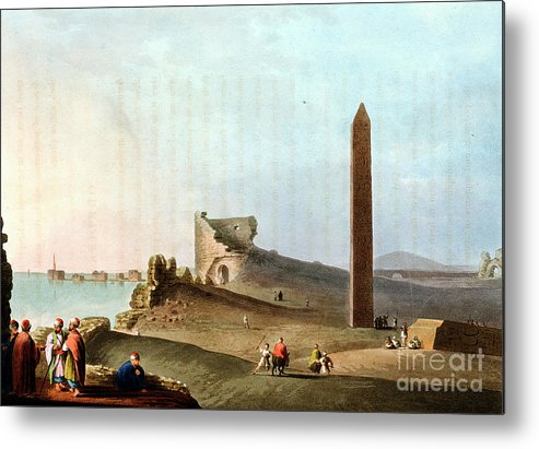 People Metal Print featuring the drawing Obelisks At Alexandria Called by Print Collector