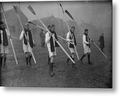 1930-1939 Metal Print featuring the photograph Oxford Boat Crew by J. A. Hampton