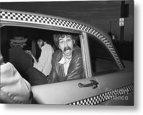 People Metal Print featuring the photograph Phil Jackson In Taxi by Bettmann