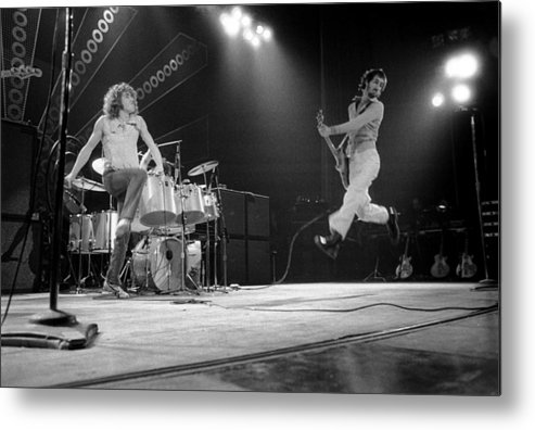 Music Metal Print featuring the photograph Photo Of Pete Townshend And Roger by David Redfern