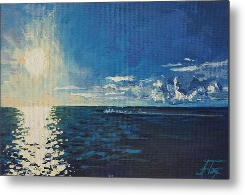 Waterscape Metal Print featuring the painting Possibility by Allison Fox