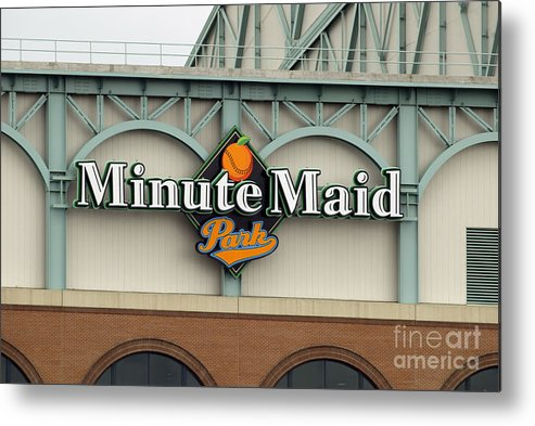 Minute Maid Park Metal Print featuring the photograph Rockies V Astros by Ronald Martinez