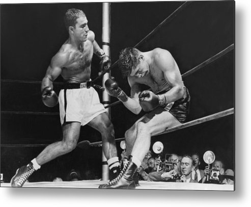 People Metal Print featuring the photograph Rocky Marciano by Keystone