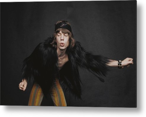 Mick Jagger Metal Print featuring the photograph Rolling Stones Singer by Michael Ochs Archives