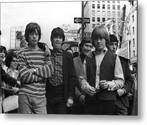 Rock Music Metal Print featuring the photograph Rolling Stones by William Lovelace