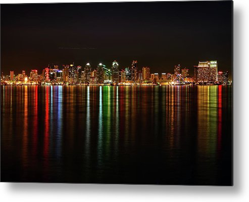 California Metal Print featuring the photograph San Diego Skyline From Harbor Island by David Toussaint