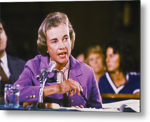 1980-1989 Metal Print featuring the photograph Sandra Day Oconnor by Keystone