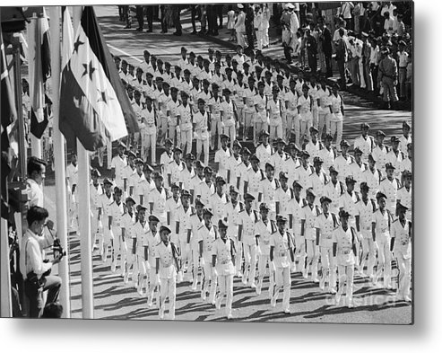 Marching Metal Print featuring the photograph South Vietnamese Cadets Marching by Bettmann