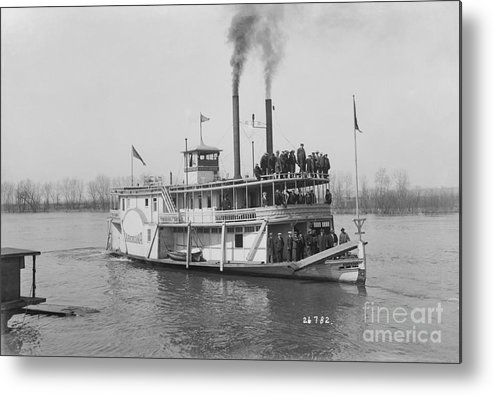 People Metal Print featuring the photograph Steamboat Offshore by Bettmann