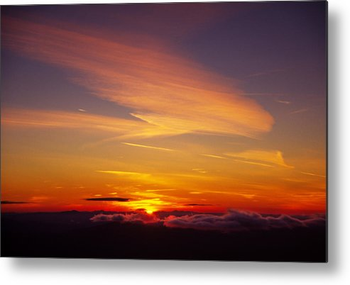 The End Metal Print featuring the photograph Sunset Near Taos, New Mexico, Usa by Diane Miller