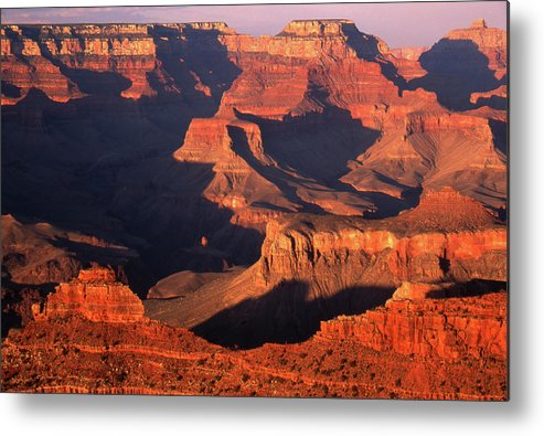 Toughness Metal Print featuring the photograph Sunset Over Grand Canyon by By Tiina Gill