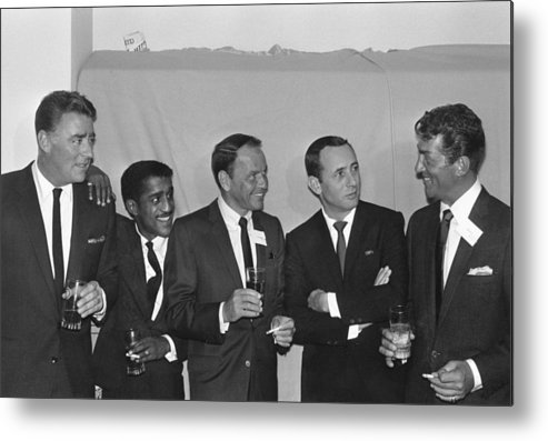 Singer Metal Print featuring the photograph The Usual Rat Pack by Jack Albin