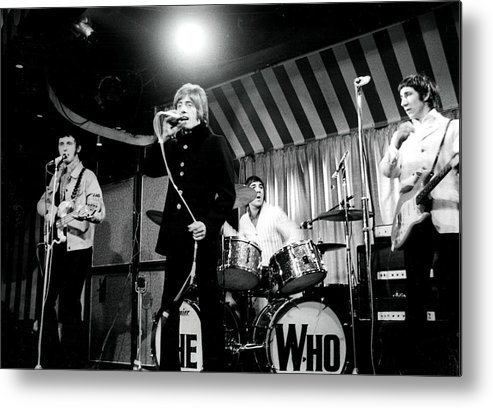 Singer Metal Print featuring the photograph The Who by Paul Popper/popperfoto
