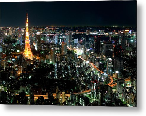 Tokyo Tower Metal Print featuring the photograph Tokyo Tower by Andreas Jensen