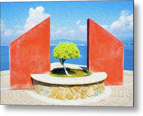 Mexico Metal Print featuring the digital art Tranquil Surroundings by Kenneth Montgomery