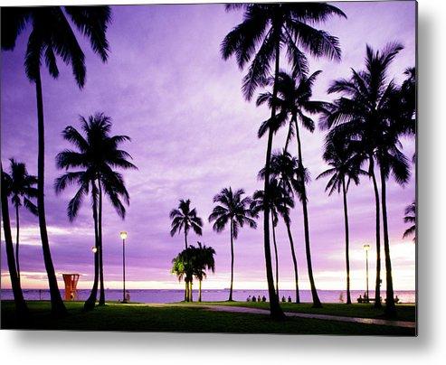 Scenics Metal Print featuring the photograph Usa, Hawaii, Oahu, Honolulu, Waikiki by Maremagnum