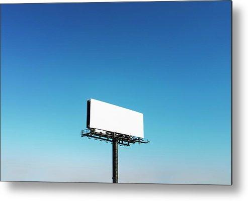North Carolina Metal Print featuring the photograph Usa, North Carolina, Billboard Under by Tetra Images