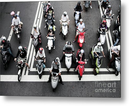 Crash Helmet Metal Print featuring the photograph Vanguard by Tc Lin