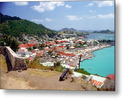 Scenics Metal Print featuring the photograph View Of Marigot Bay From St. Louis by Medioimages/photodisc