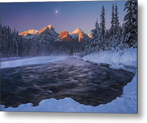 Winter Metal Print featuring the photograph Winter Canadian Rockies by Andy Hu