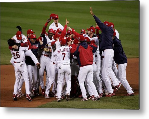 St. Louis Cardinals Metal Print featuring the photograph World Series Game 5 Detroit Tigers V by Elsa