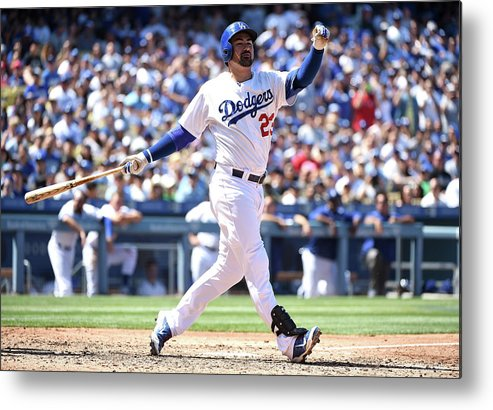 People Metal Print featuring the photograph Adrian Gonzalez by Harry How