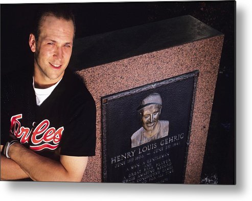 People Metal Print featuring the photograph Cal Ripken by Ronald C. Modra/sports Imagery