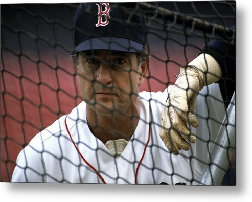 1980-1989 Metal Print featuring the photograph Carl Yastrzemski by Ronald C. Modra/sports Imagery