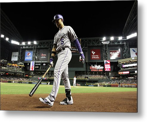 Home Base Metal Print featuring the photograph Carlos Gonzalez by Christian Petersen