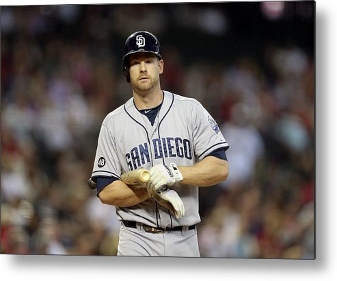 National League Baseball Metal Print featuring the photograph Chase Headley by Christian Petersen