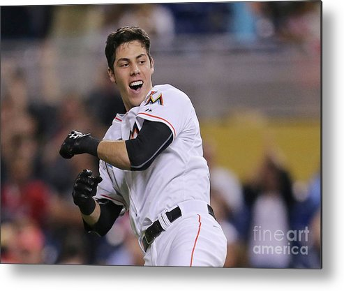 People Metal Print featuring the photograph Christian Yelich by Rob Foldy