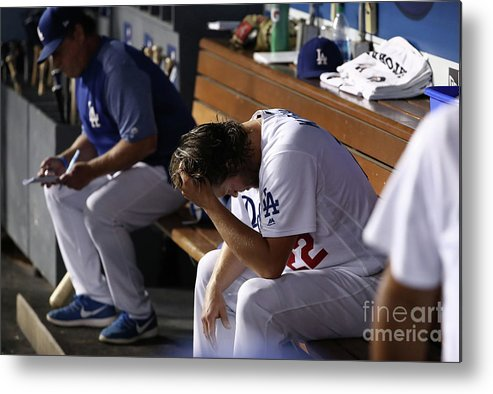 People Metal Print featuring the photograph Clayton Kershaw by Victor Decolongon