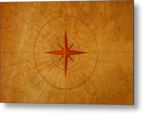 Art Metal Print featuring the photograph Compass Rose by Dem10