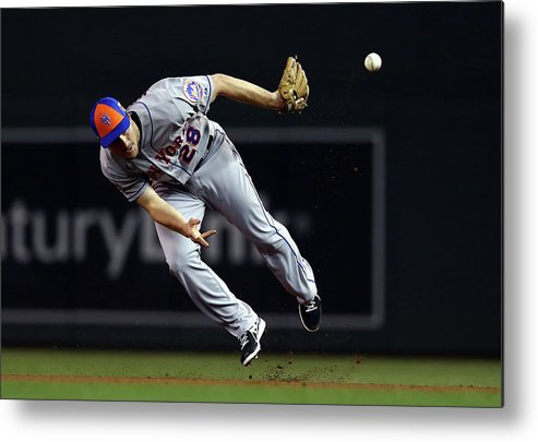 American League Baseball Metal Print featuring the photograph Daniel Murphy by Elsa