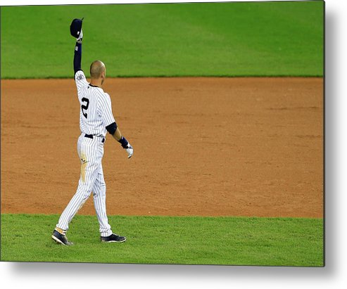 Ninth Inning Metal Print featuring the photograph Derek Jeter by Alex Trautwig