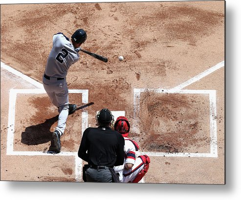 American League Baseball Metal Print featuring the photograph Derek Jeter by Jonathan Daniel