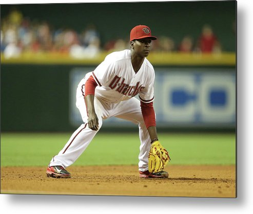 Motion Metal Print featuring the photograph Didi Gregorius by Christian Petersen